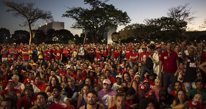 Manifestantes en Brasil (archivo)