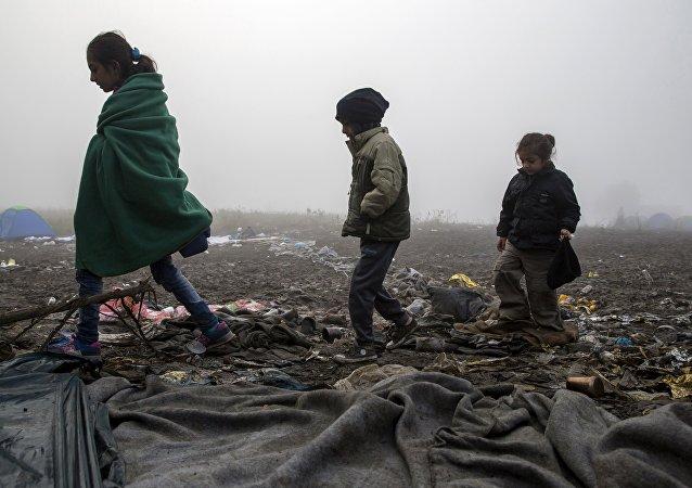 Los niños migrantes en Europa