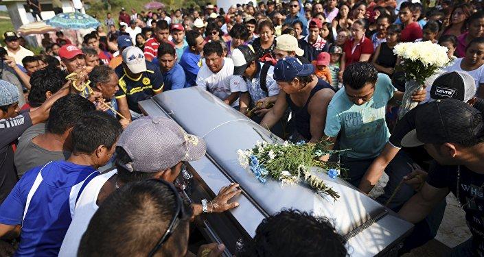 Imagen de un entierro en México