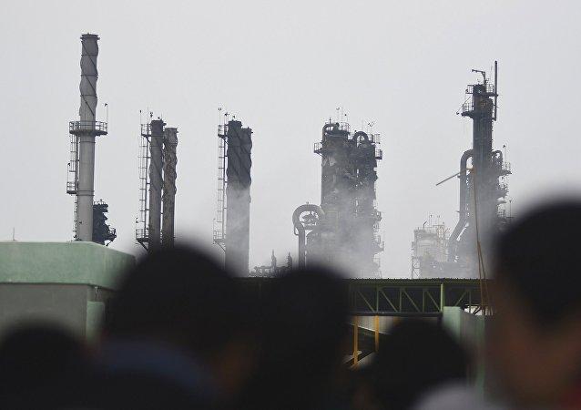 Explosión en la planta petroquímica en México