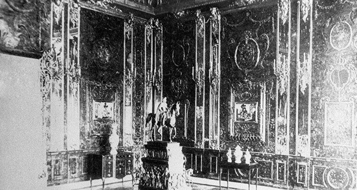 Fotografía de la Cámara de Ámbar hecha antes de la Segunda Guerra Mundial