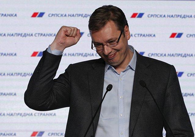 Aleksandar Vucic, primer ministro de Serbia