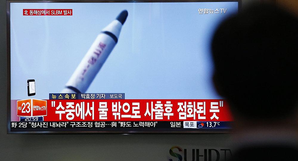 La trasmisión de lanzamiento del misil norcoreano