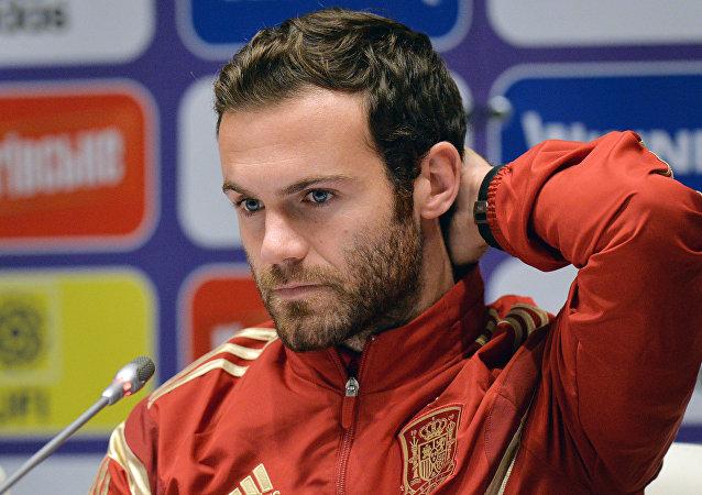 Juan Mata, centrocampista del club inglés Manchester United