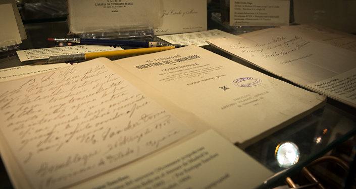 Las cartas en la exposición 'León Tolstói y el mundo hispanohablante'