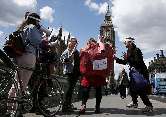 Huelga de médicos junior en Londres