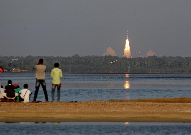 El lanzamiento del Satélite Polar indio (archivo)
