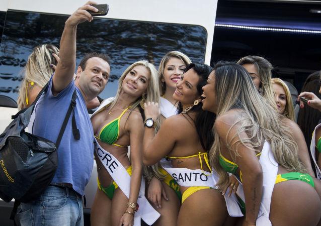 Participantes del certamen Miss Bumbum Brasil