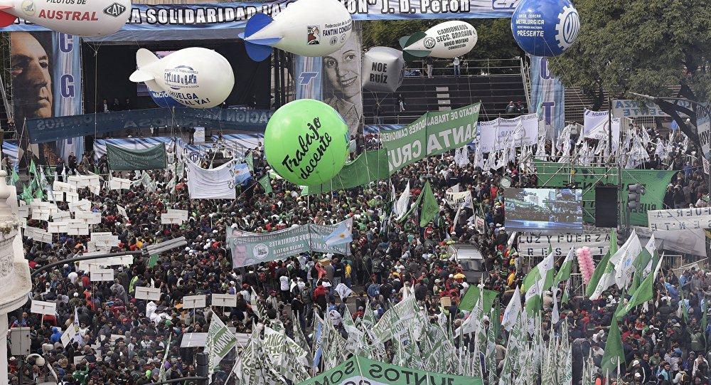 Manifestación contra el Gobierno argentino