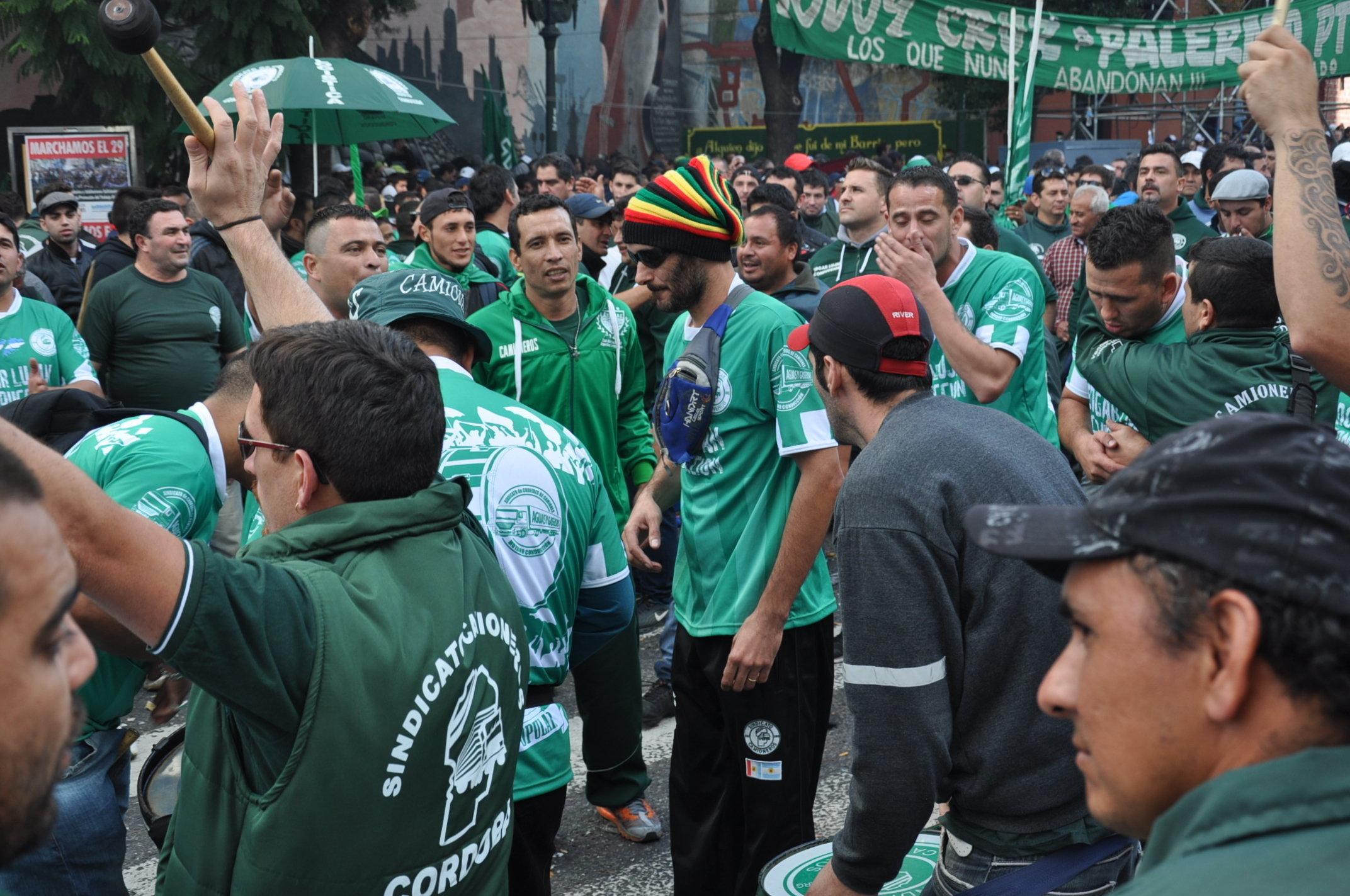 Movilización del Sindicato de Choferes de Camiones.