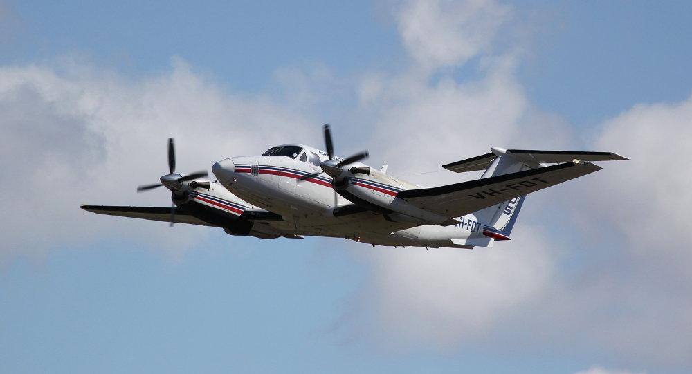Beechcraft Super King Air 200 despegando