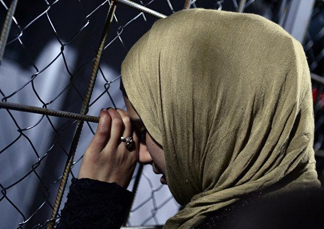 Mujer sirio