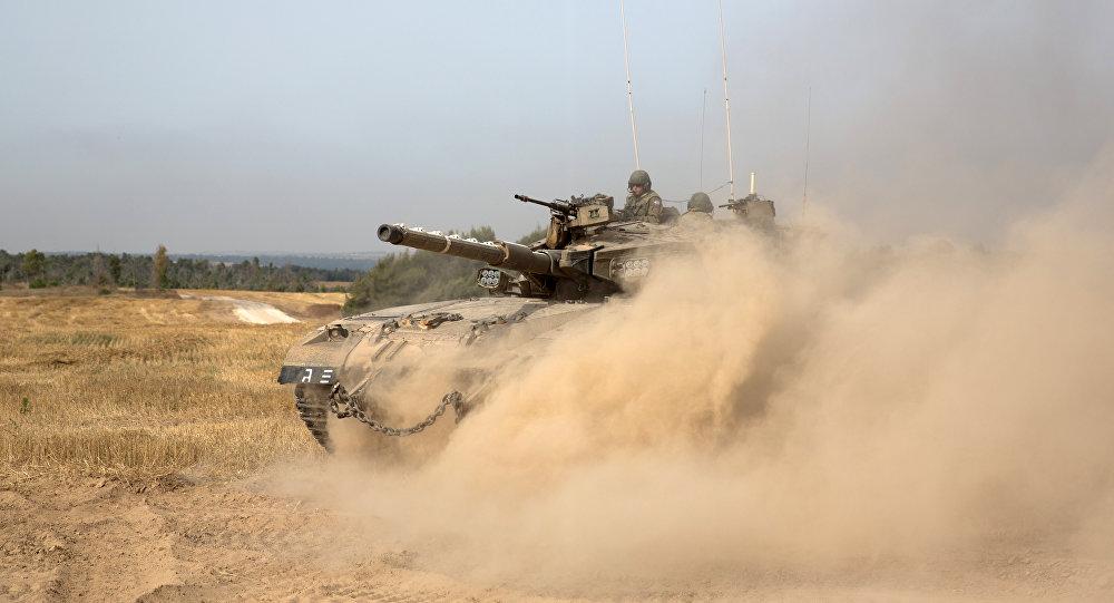 Tanque del Ejército israelí