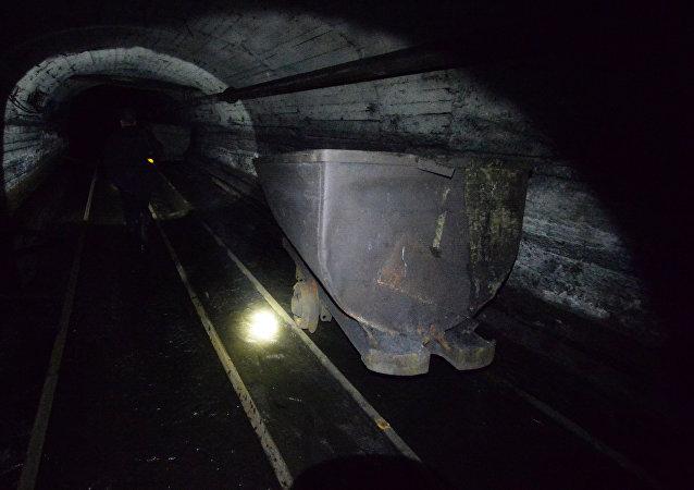 Una mina en Donbás
