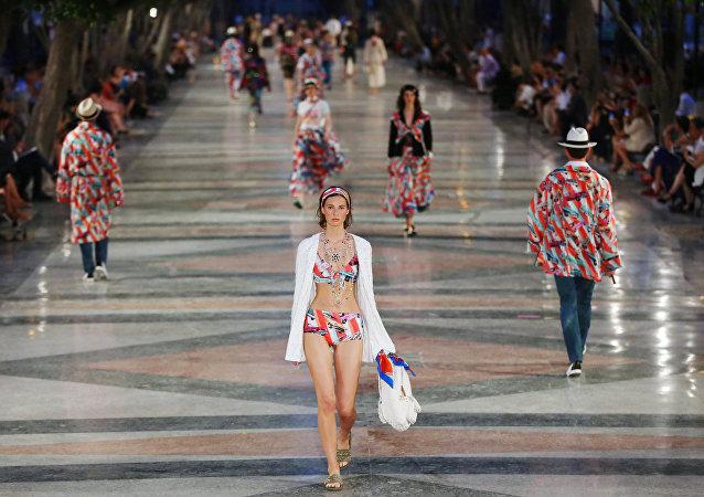Desfile de Chanel en La Habana, Cuba