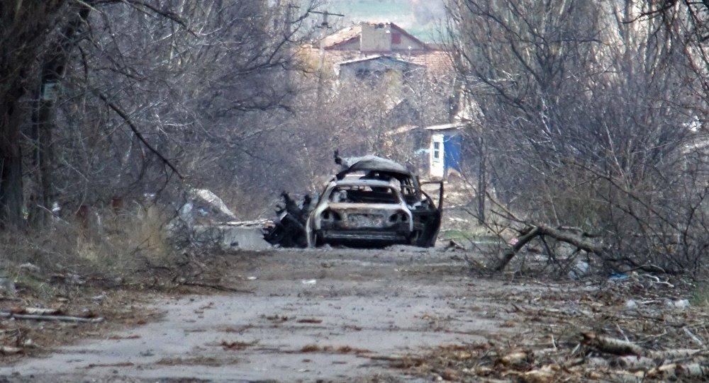 Сoche en la región de Donetsk