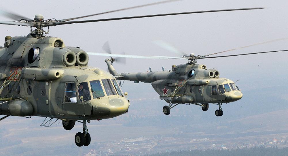 Los helicópteros de transporte Mi-17
