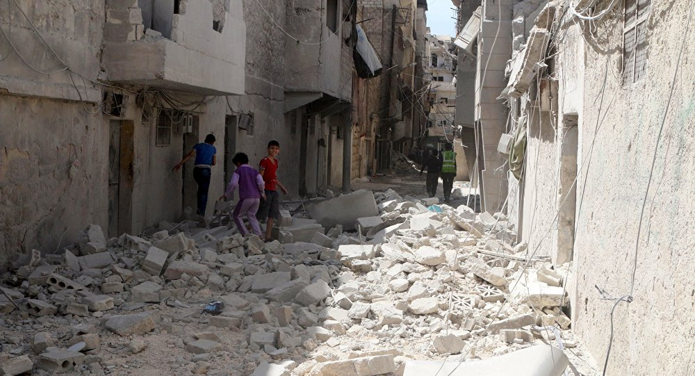 Barrio destruido en Alepo, Siria (archivo)