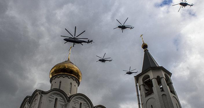 Helicópteros rusos (archivo)
