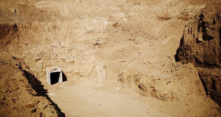 Uno de los túneles encontrados por el Ejército israelí (archivo)