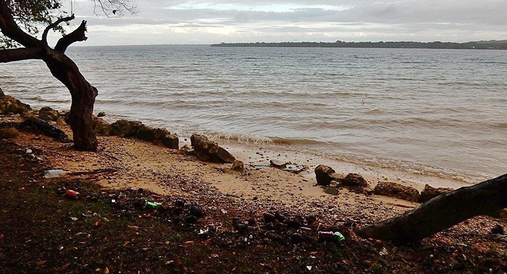 Basura en la costa