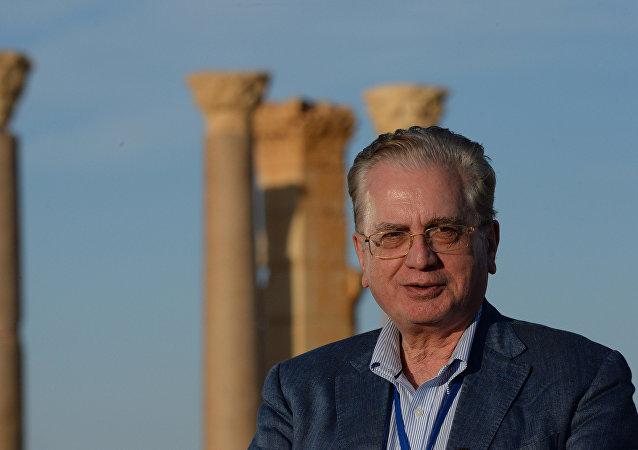 Director del Hermitage, Mijaíl Piotrovski, en Palmira