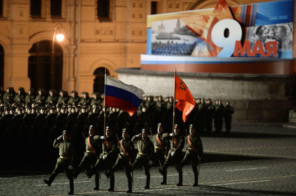 Ensayo en Moscú del desfile del Día de la Victoria