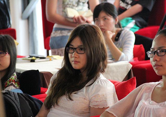 Estudiantes chinos (Archivo)