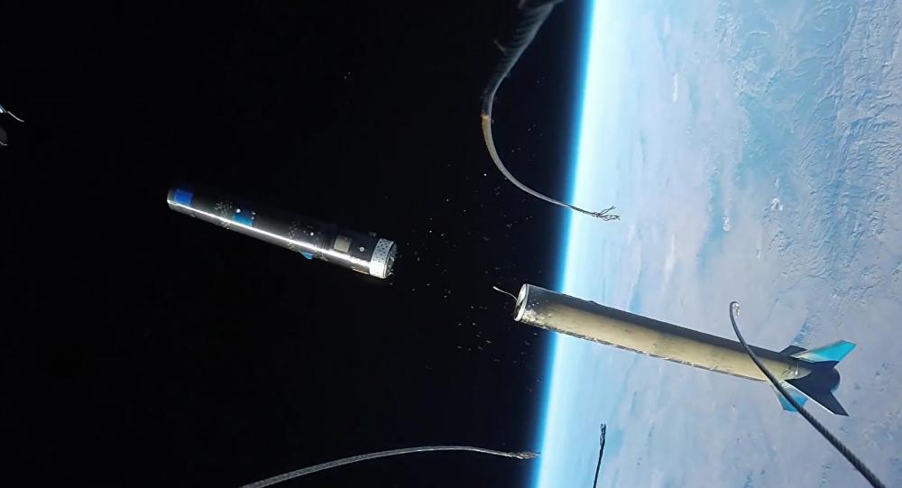 Cohete de UP Aerospace con la cámara GoPro
