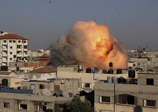 Ataque israelí en la Franja de Gaza