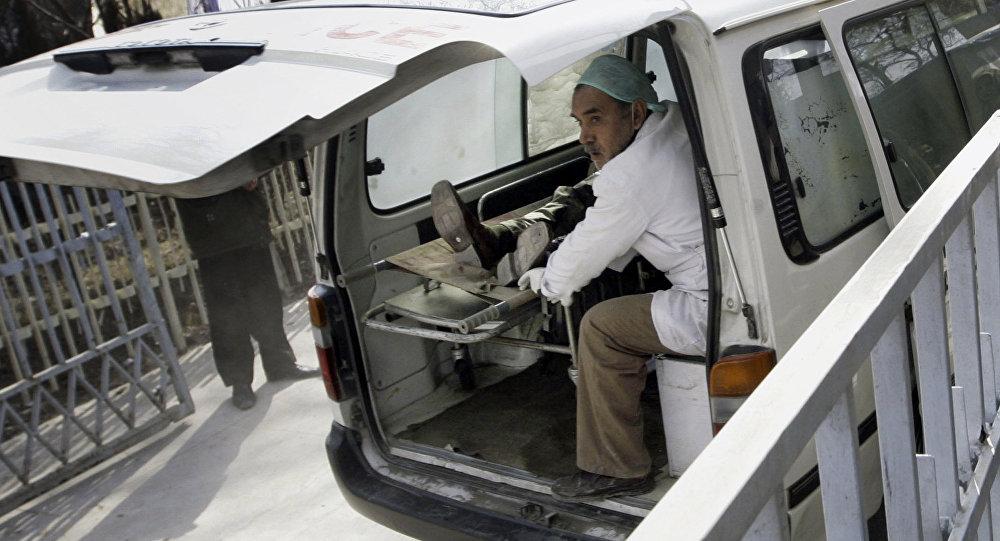 Una ambulancia en Afganistán (imagen referencial)
