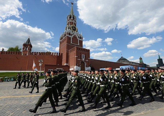 Ensayo del desfile del Día de la Victoria en Moscú