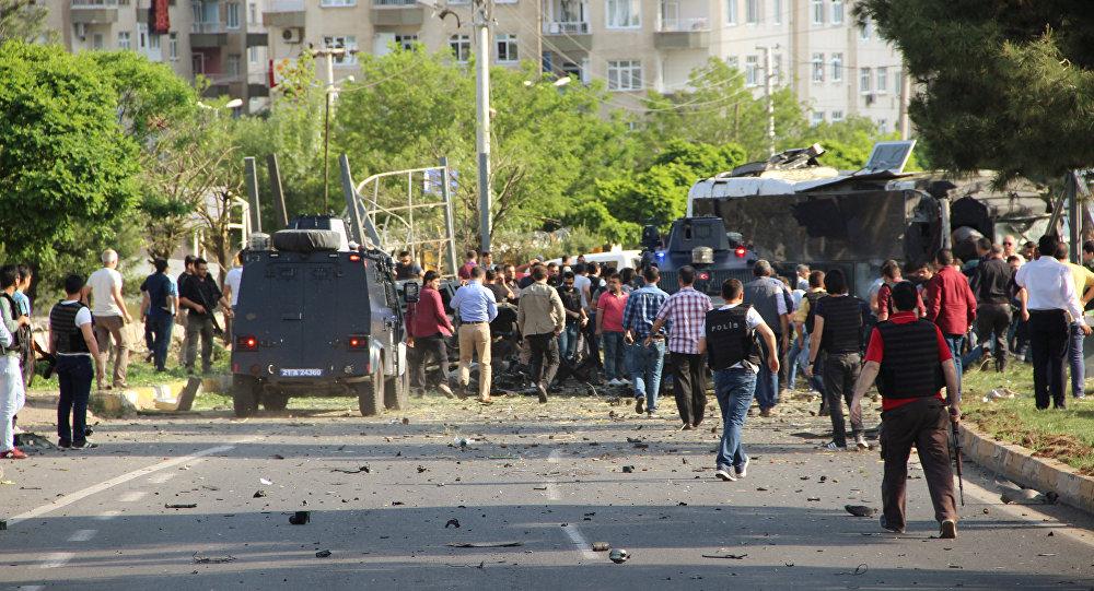 Explosión en Diyarbakir, el 10 de mayo de 2016