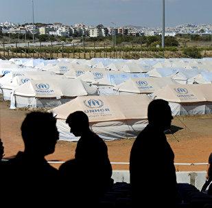 Campo de refugiados en Europa