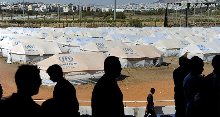 Campo de refugiados en Grecia (archivo)
