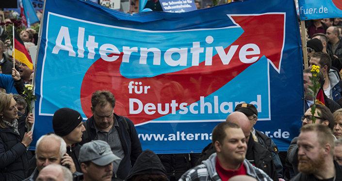 Partidores de Alternativa para Alemania en Berlín