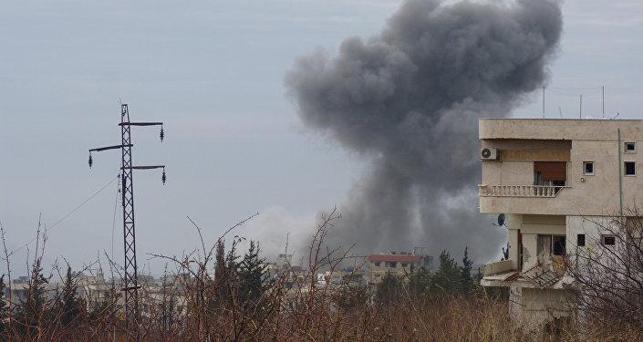 La ciudad de Al-Fuah, situada en la provincia noroccidental de Idlib