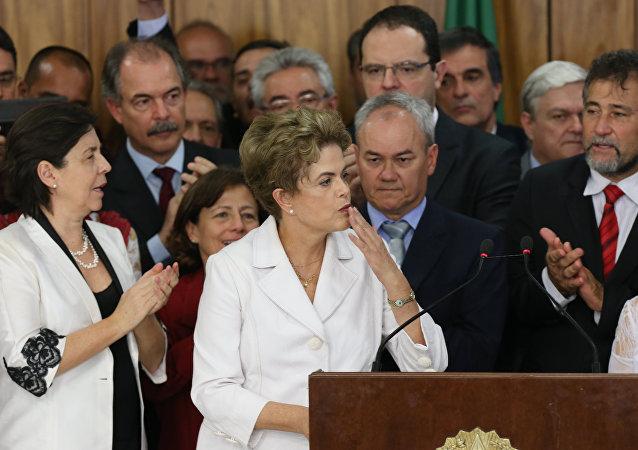 Discurso de Dilma Rousseff en el Palacio de Planalto