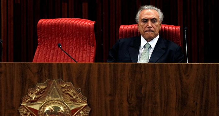 Michel Temer, el presidente de Brasil