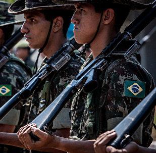 Soldados del Ejército de Brasil