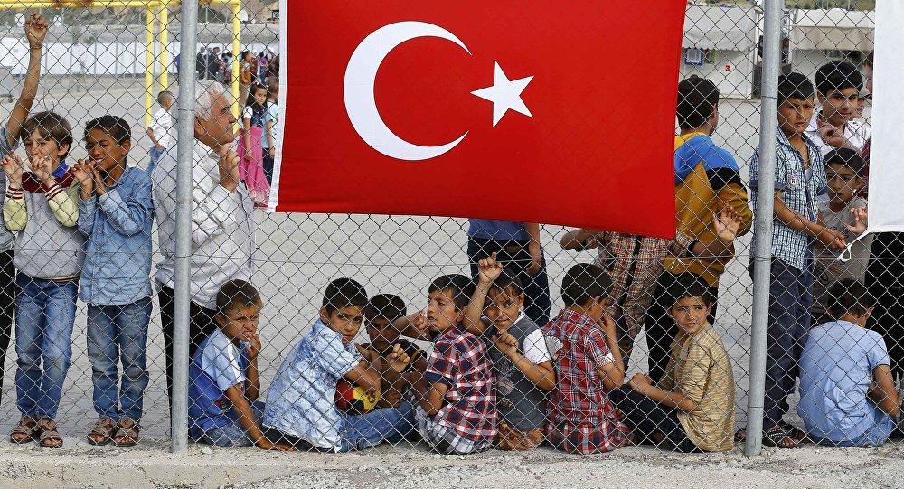 Campamento de refugiados en Nizip, Turquía