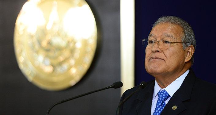El presidente salvadoreño, Salvador Sánchez Cerén