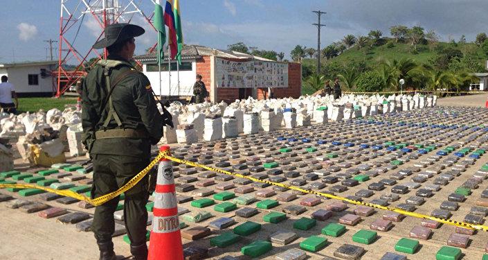 Сocaína confiscada por la policía cerca de la frontera colombiano-panameña