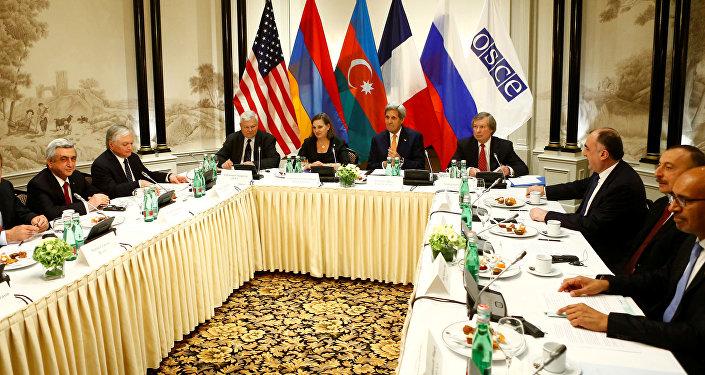 Reunión sobre la situación en Nagorno Karabaj (archivo)