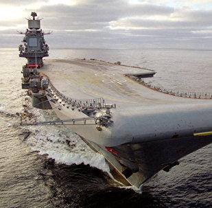 El portaviones de la Armada rusa Almirante Kuznetsov