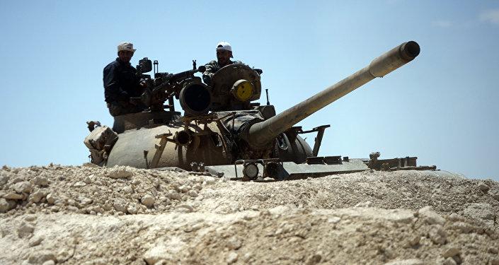 Tanque del Ejército sirio