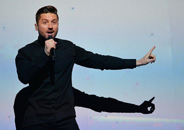 El сantante ruso Serguéi Lázarev en la Eurovisión 2016