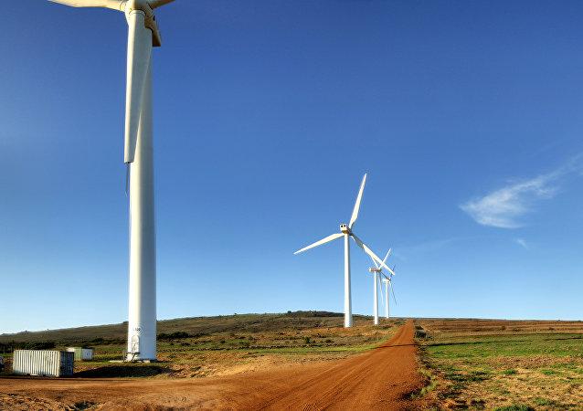 Molinos de viento. Energía renovable.