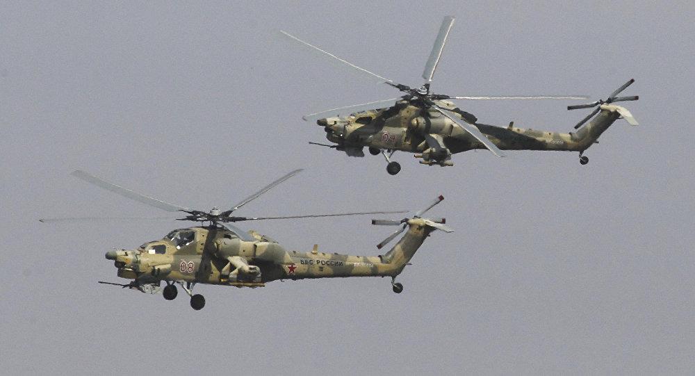 Helicópteros rusos Mi-28N Cazador Nocturno