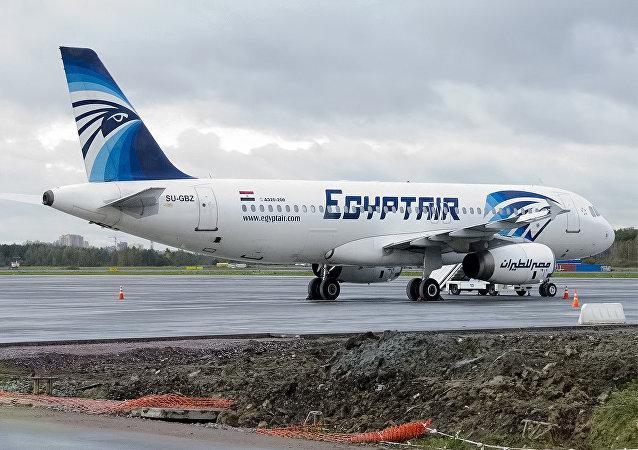 Un avión de EgyptAir, Airbus A320-232